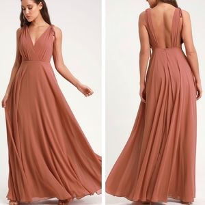Lulu's Dance The Night Away Rusty Rose Dress